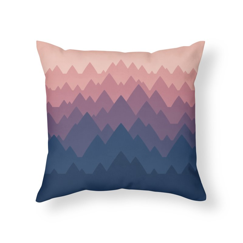 Mountain Vista : Sunset Home Throw Pillow by Waynem