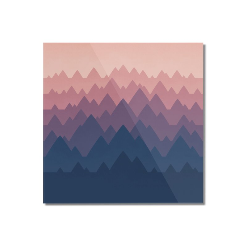 Mountain Vista : Sunset Home Mounted Acrylic Print by Waynem