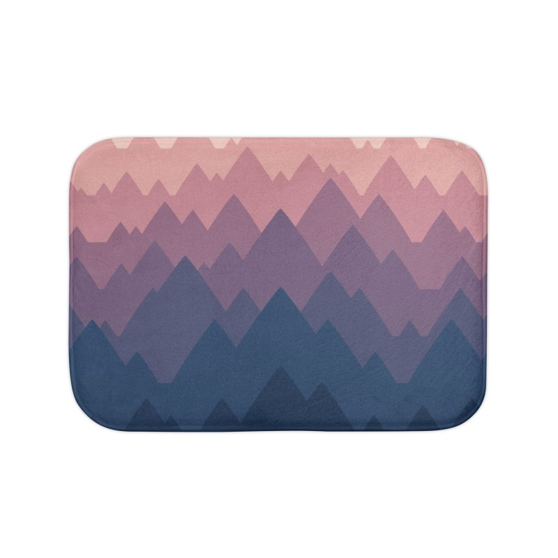 Mountain Vista : Sunset Home Bath Mat by Waynem
