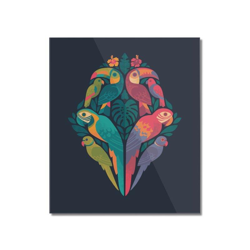Tropicana Reflections : Dark Home Mounted Acrylic Print by Waynem