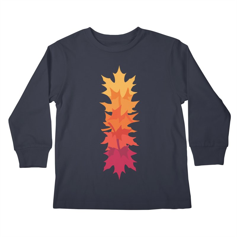 Falling Maple : Warm Kids Longsleeve T-Shirt by Waynem