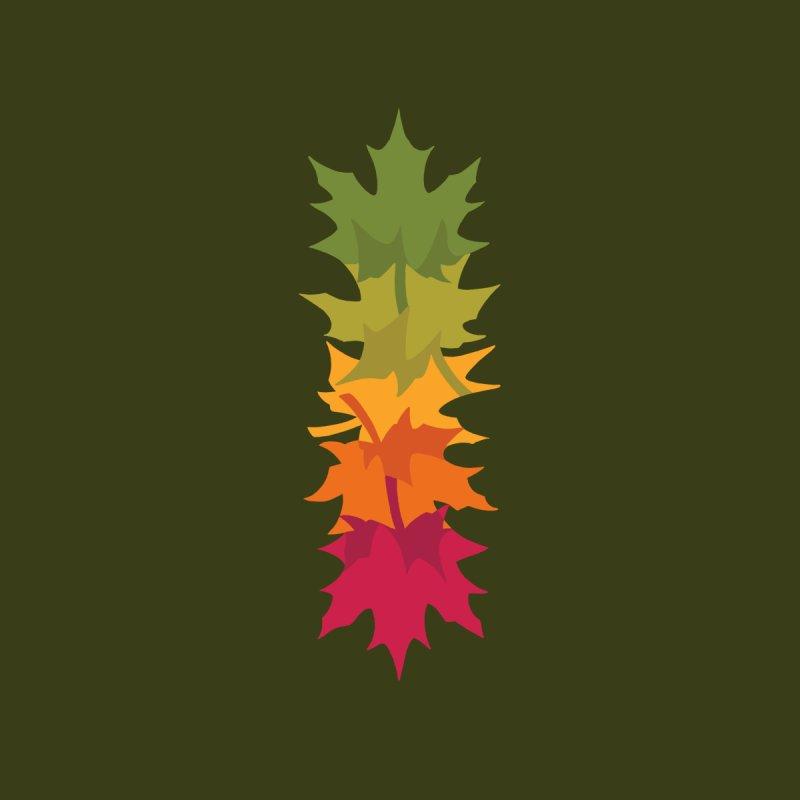 Falling Maple : Green Kids Longsleeve T-Shirt by Waynem