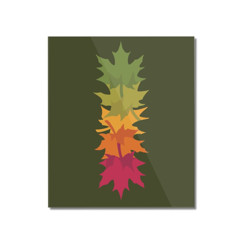 Falling Maple : Green Home Mounted Acrylic Print by Waynem