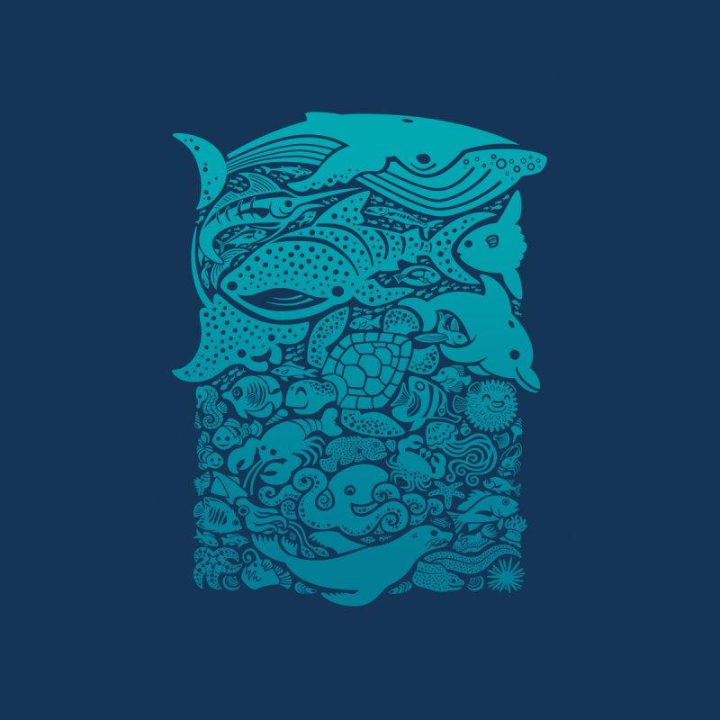 Aquatic Blues 2 Accessories Neck Gaiter by Waynem