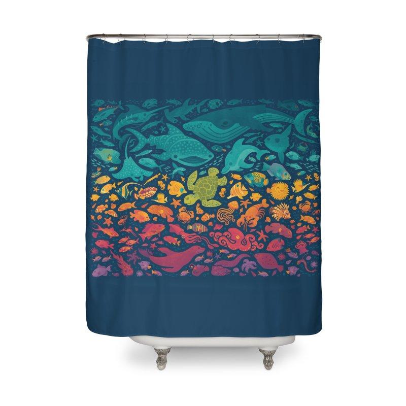 Aquatic Spectrum 2 Home Shower Curtain by Waynem