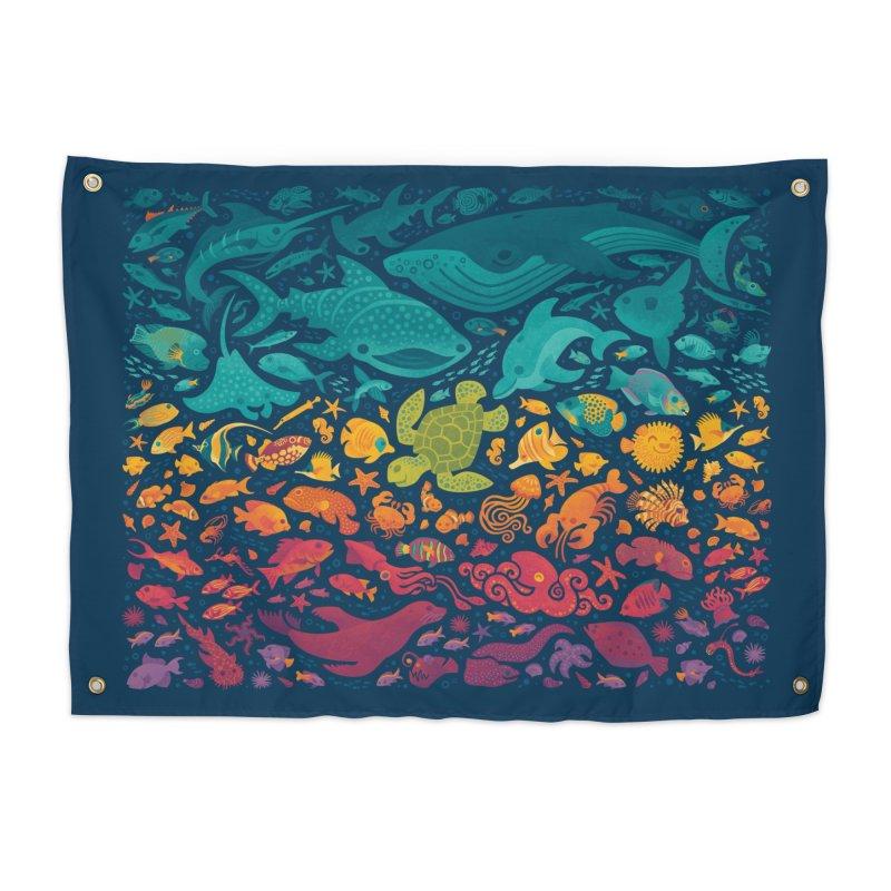 Aquatic Spectrum 2 Home Tapestry by Waynem