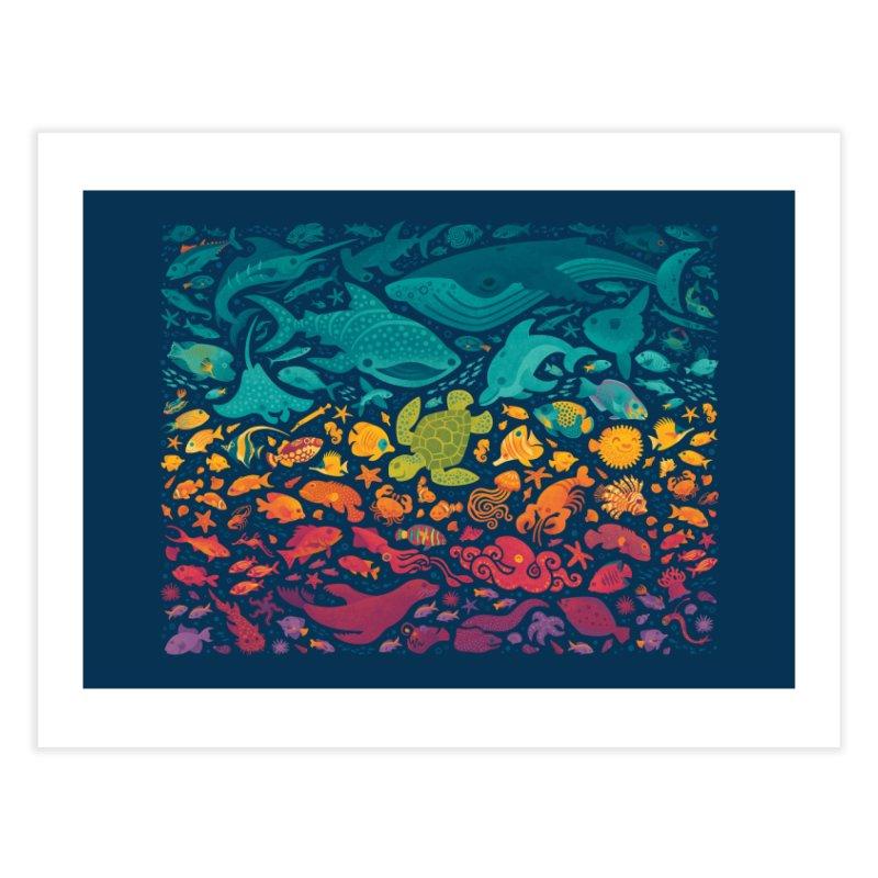 Aquatic Spectrum 2 Home Fine Art Print by Waynem
