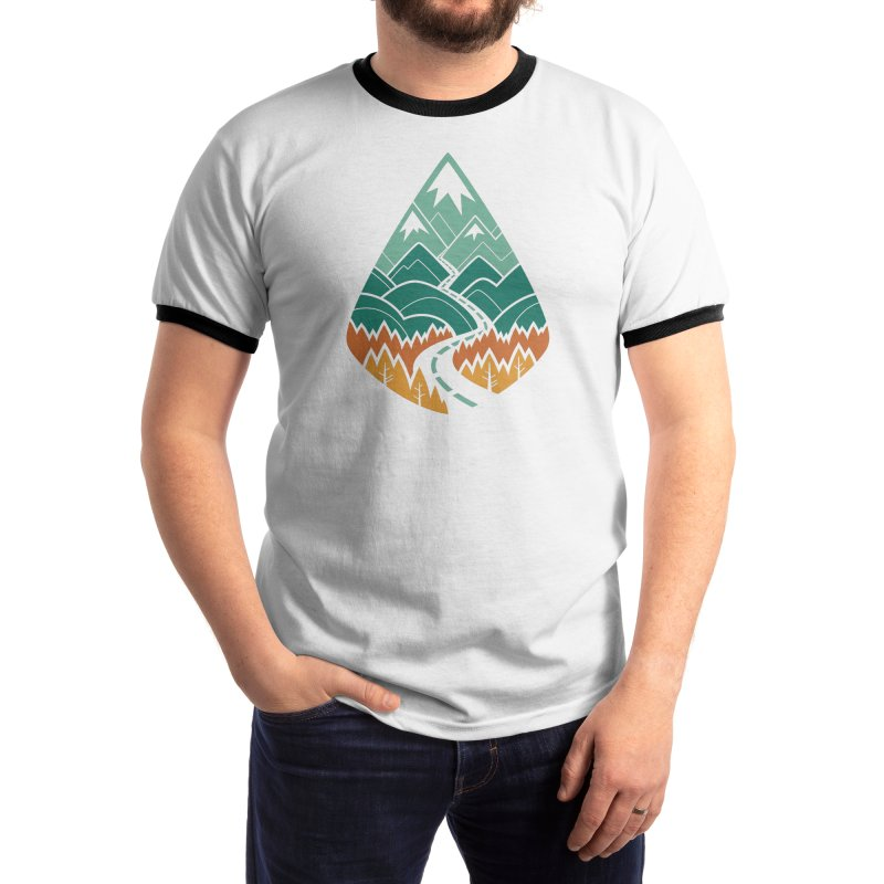 The Road Goes Ever On : Summer (white) Men's T-Shirt by Waynem