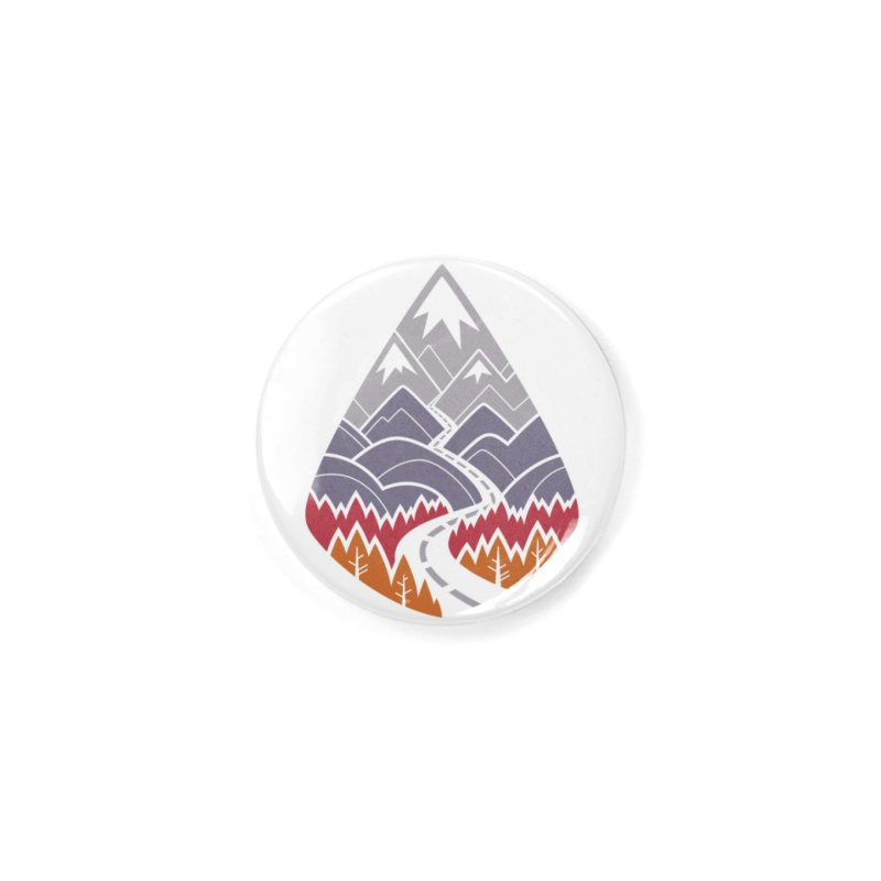 The Road Goes Ever On : Autumn (white) Accessories Button by Waynem
