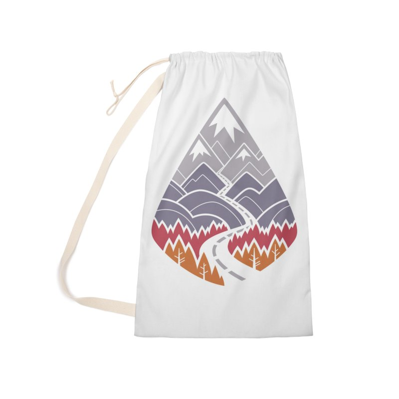 The Road Goes Ever On : Autumn (white) Accessories Bag by Waynem
