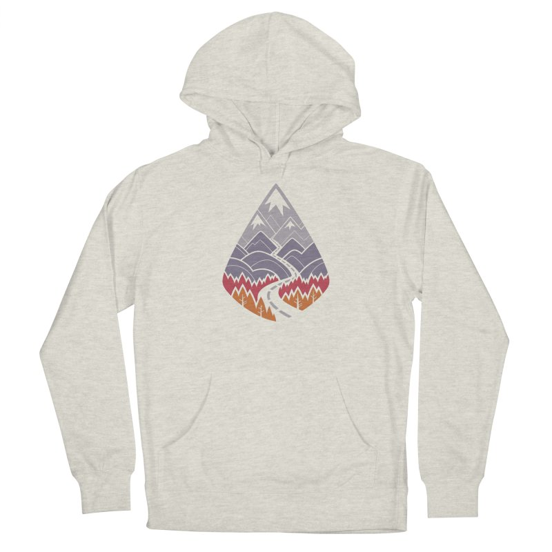 The Road Goes Ever On : Autumn (white) Women's Pullover Hoody by Waynem