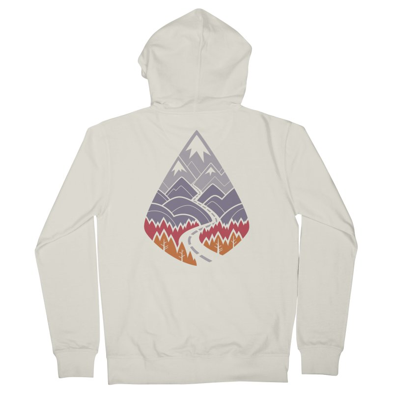 The Road Goes Ever On : Autumn (white) Women's Zip-Up Hoody by Waynem