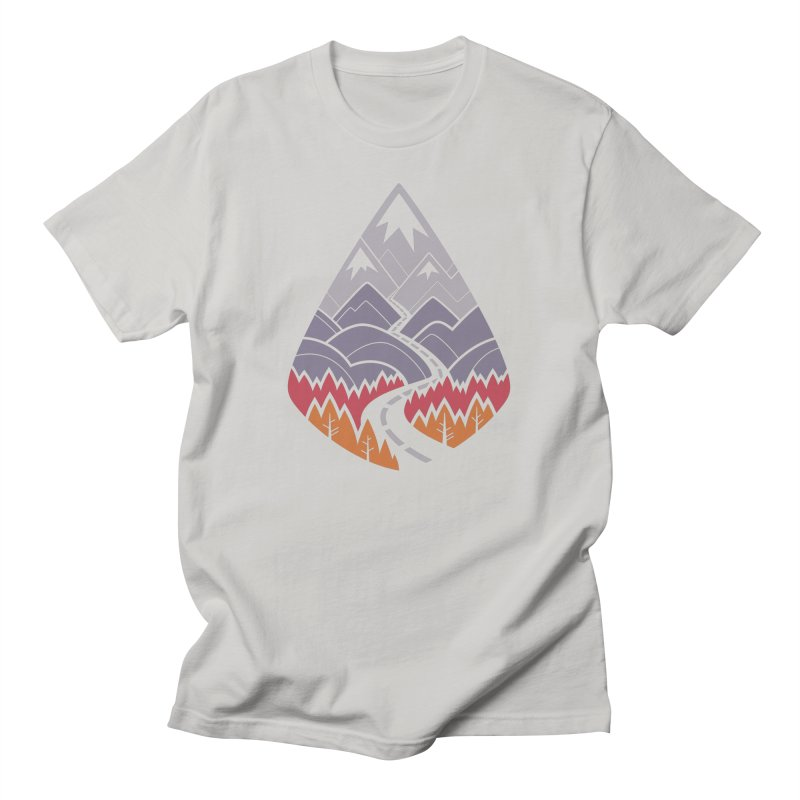 The Road Goes Ever On : Autumn (white) Men's T-Shirt by Waynem