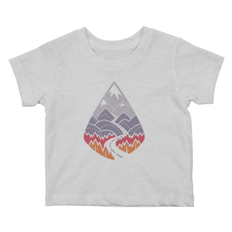The Road Goes Ever On : Autumn (white) Kids Baby T-Shirt by Waynem