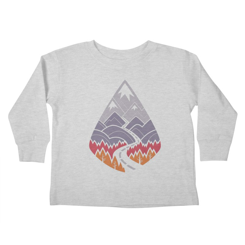 The Road Goes Ever On : Autumn (white) Kids Toddler Longsleeve T-Shirt by Waynem