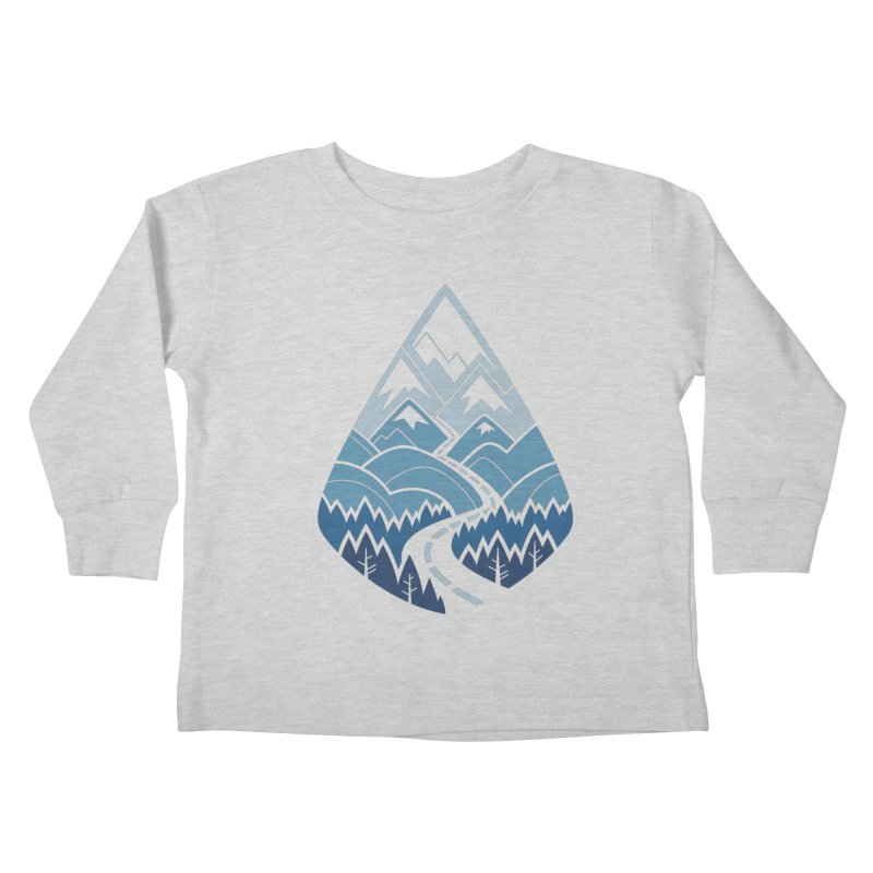 The Road Goes Ever On : Winter (white) Kids Toddler Longsleeve T-Shirt by Waynem