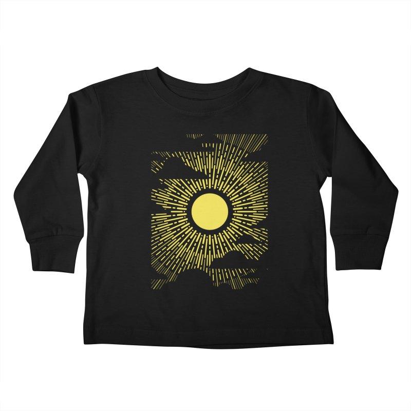 Sun Through the Clouds Kids Toddler Longsleeve T-Shirt by Waynem