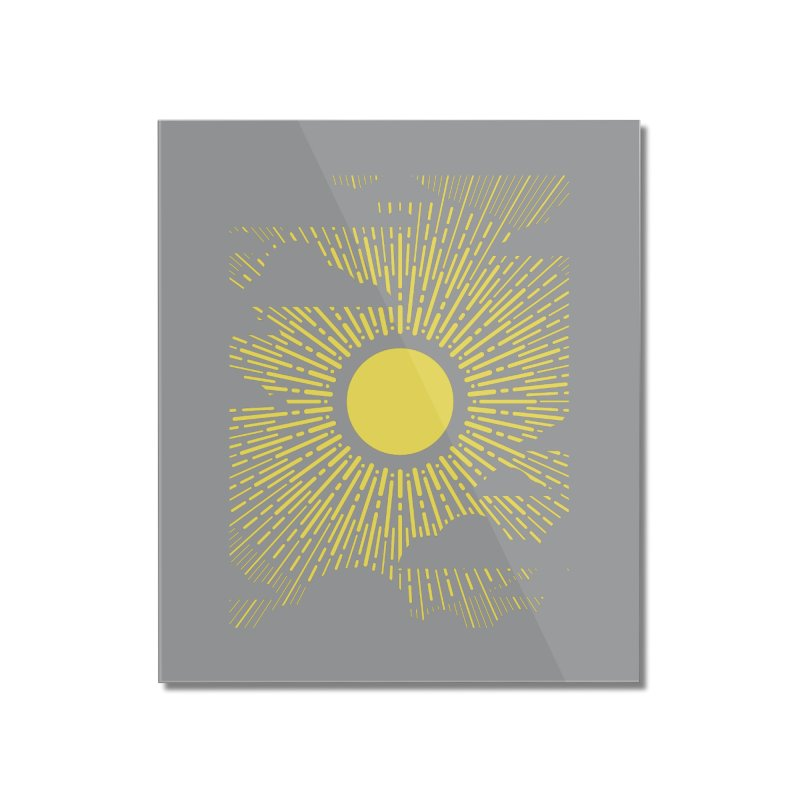 Sun Through the Clouds Home Mounted Acrylic Print by Waynem