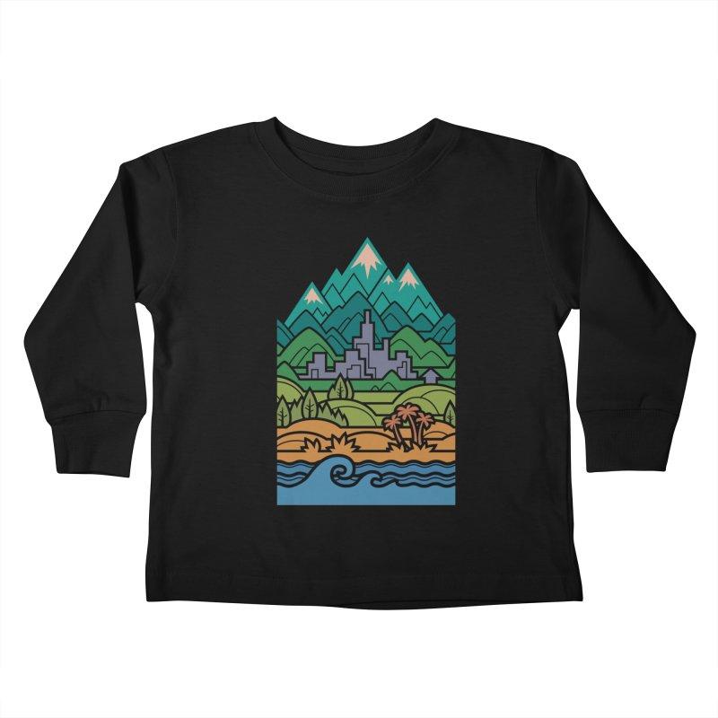 Small World Landscapes Kids Toddler Longsleeve T-Shirt by Waynem