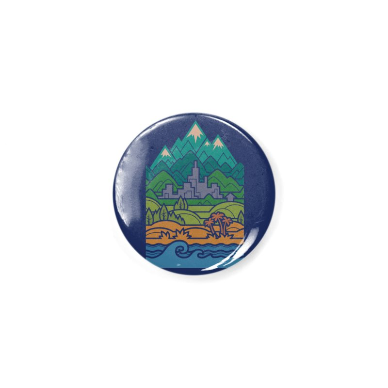 Small World Landscapes Accessories Button by Waynem