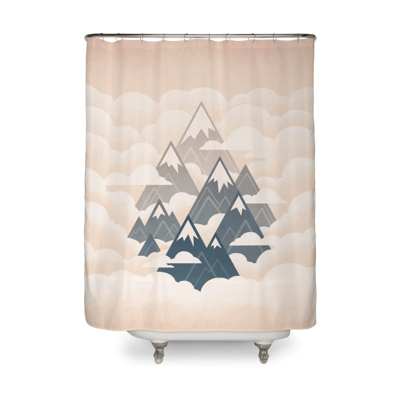 Misty Mountains : Afternoon Home Shower Curtain by Waynem