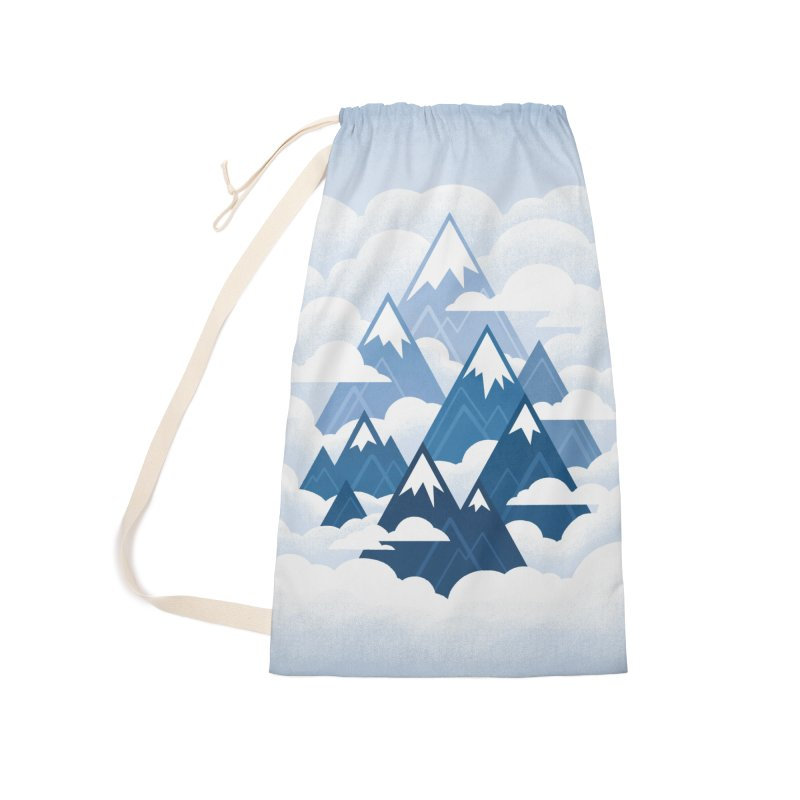 Misty Mountains : Blue Accessories Bag by Waynem