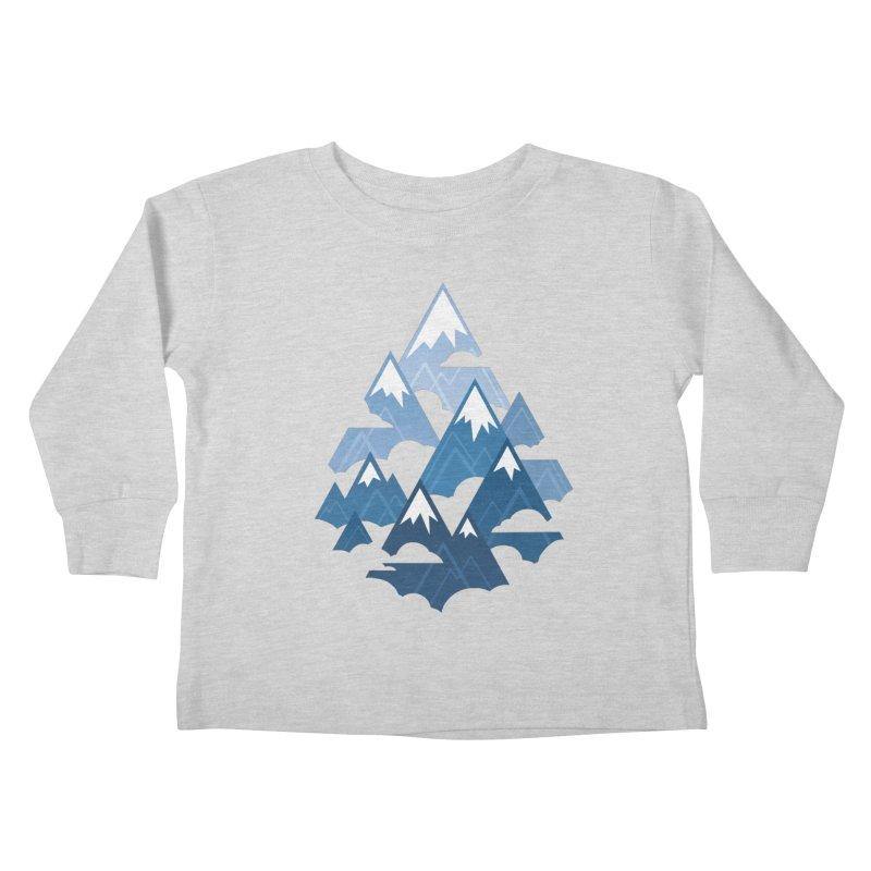 Misty Mountains : Blue Kids Toddler Longsleeve T-Shirt by Waynem