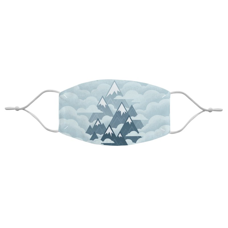 Misty Mountains : Gray Accessories Face Mask by Waynem