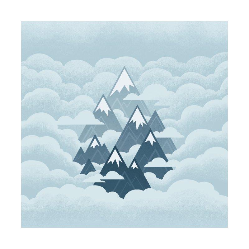 Misty Mountains : Gray Women's Zip-Up Hoody by Waynem