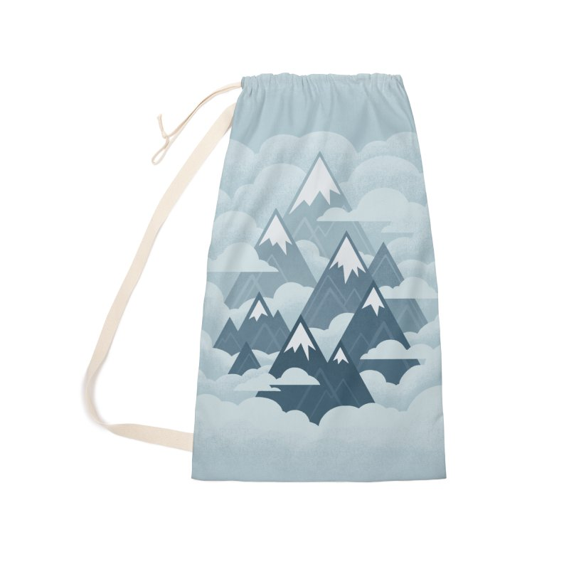 Misty Mountains : Gray Accessories Bag by Waynem