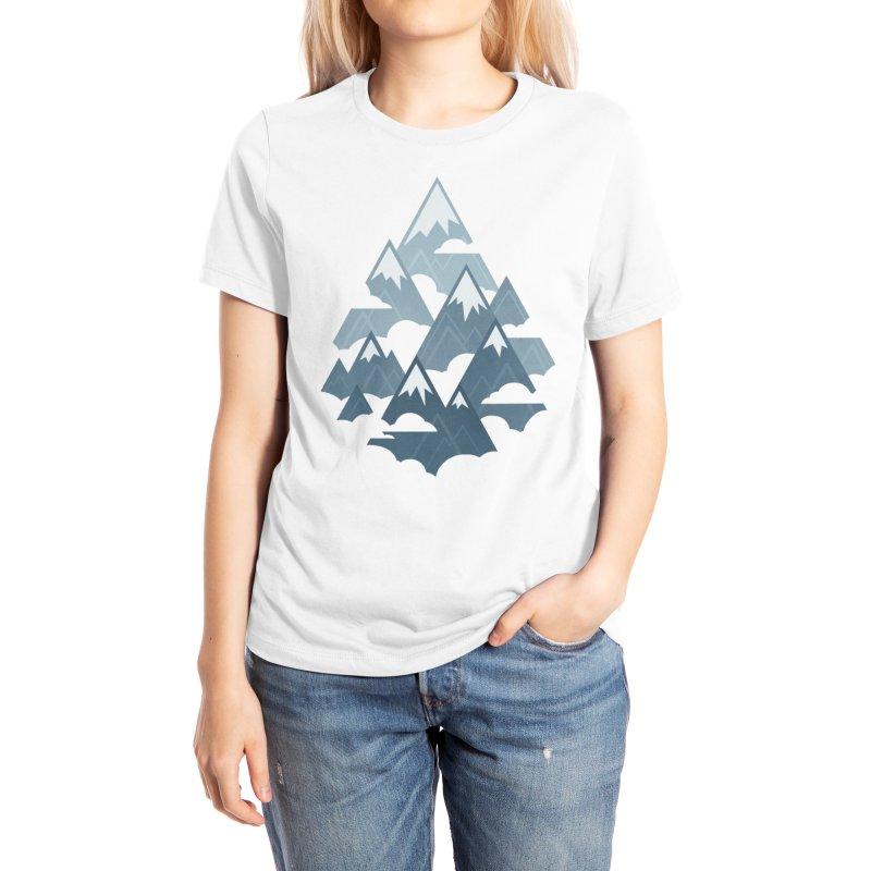 Misty Mountains : Gray Women's T-Shirt by Waynem