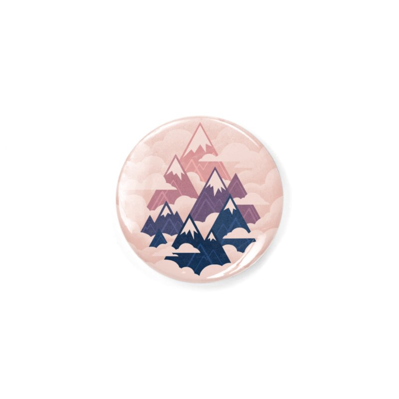 Misty Mountains : Sunset Accessories Button by Waynem