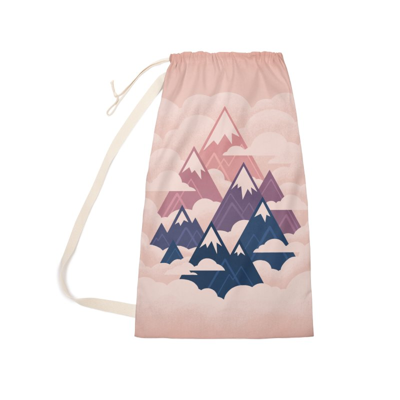 Misty Mountains : Sunset Accessories Bag by Waynem