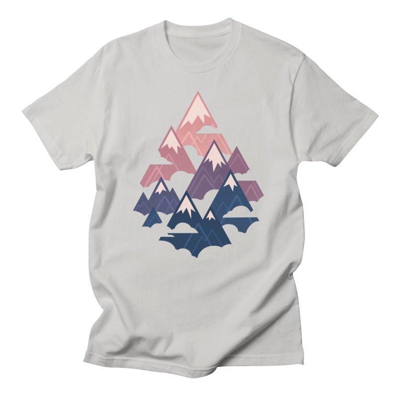 Misty Mountains : Sunset Men's T-Shirt by Waynem
