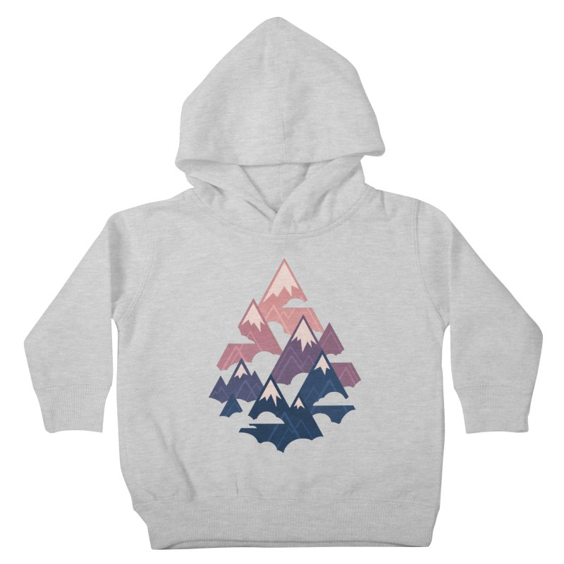 Misty Mountains : Sunset Kids Toddler Pullover Hoody by Waynem