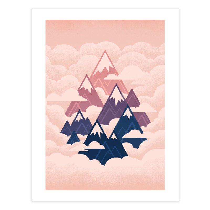Misty Mountains : Sunset Home Fine Art Print by Waynem