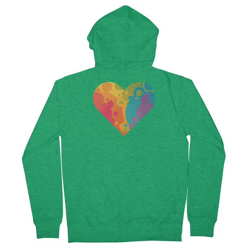 Pride Heart Women's Zip-Up Hoody by Waynem