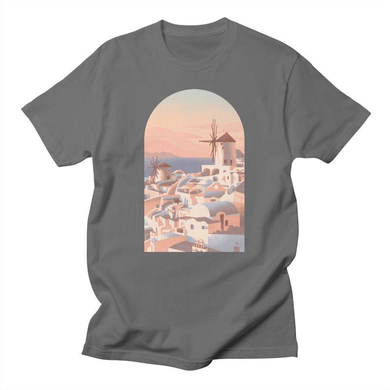 Santorini Sunset Men's T-Shirt by Waynem
