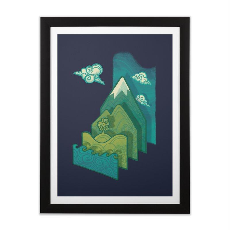 How to Build a Landscape Home Framed Fine Art Print by Waynem