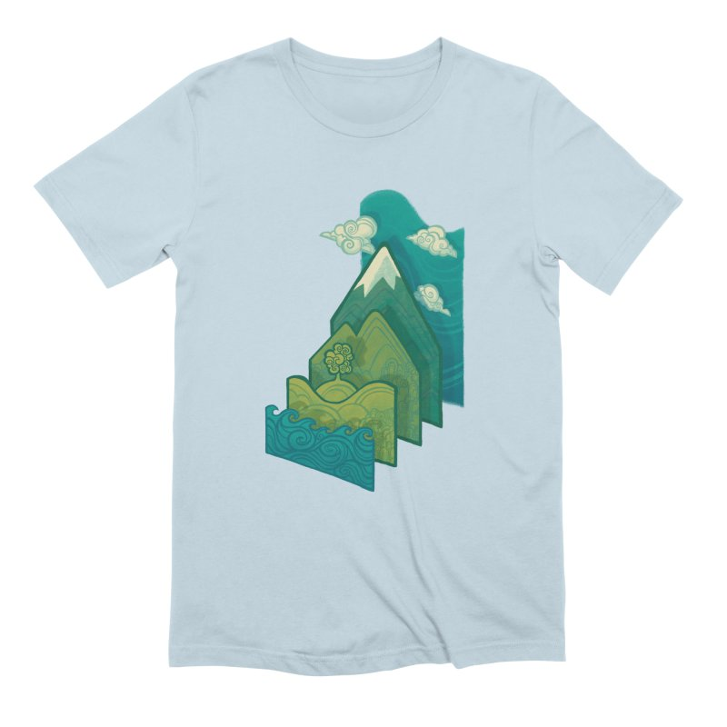 How to Build a Landscape Men's T-Shirt by Waynem