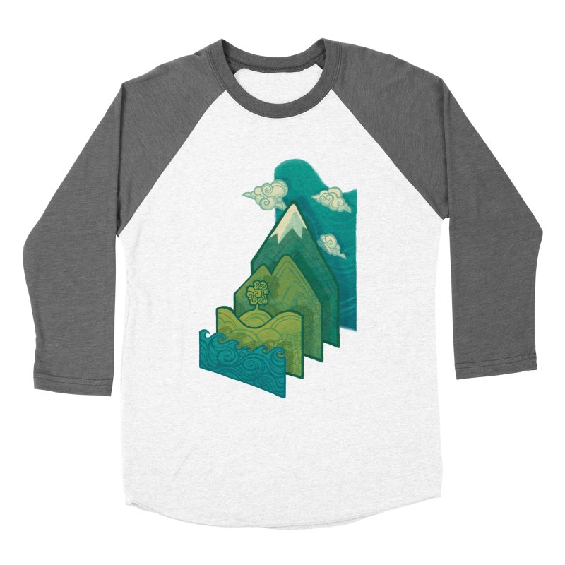 How to Build a Landscape Women's Baseball Triblend T-Shirt by Waynem