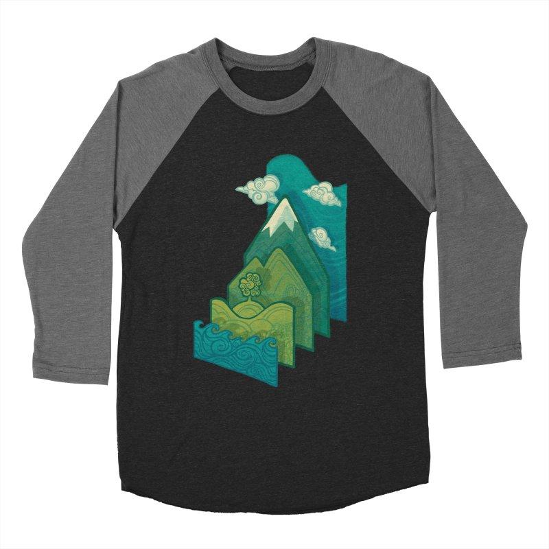 How to Build a Landscape Men's Baseball Triblend T-Shirt by Waynem