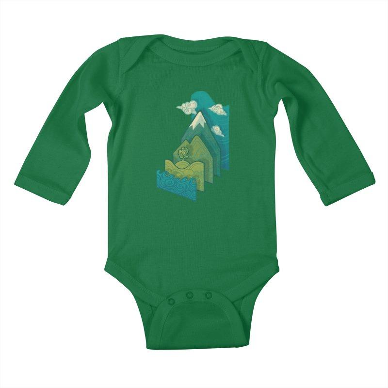 How to Build a Landscape Kids Baby Longsleeve Bodysuit by Waynem