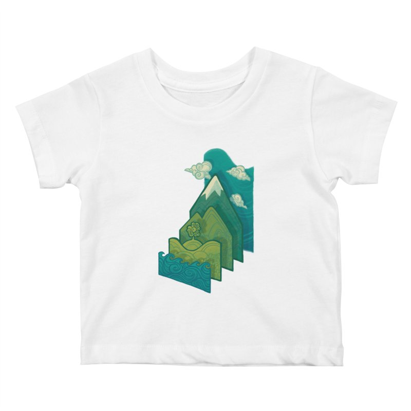 How to Build a Landscape Kids Baby T-Shirt by Waynem