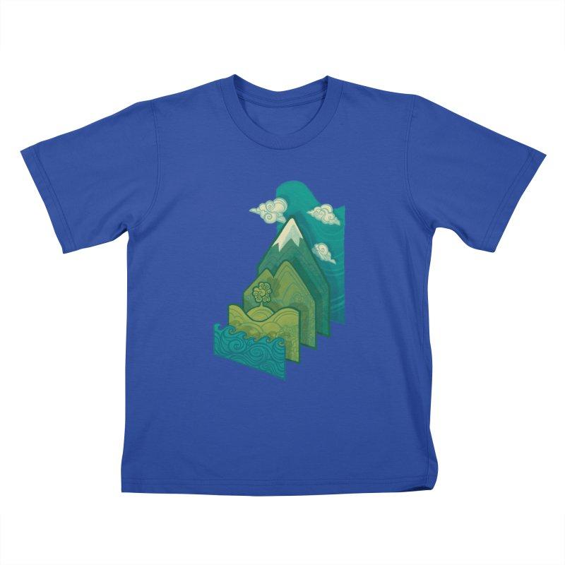 How to Build a Landscape Kids T-shirt by Waynem