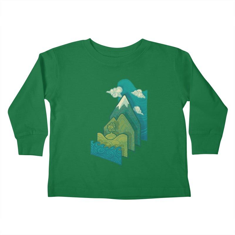 How to Build a Landscape Kids Toddler Longsleeve T-Shirt by Waynem