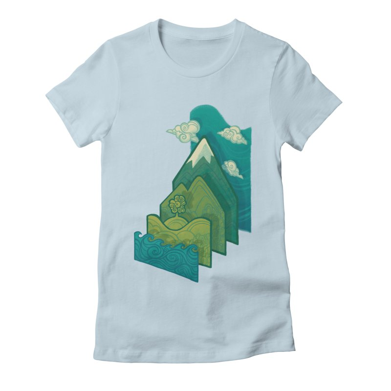 How to Build a Landscape Women's Fitted T-Shirt by Waynem