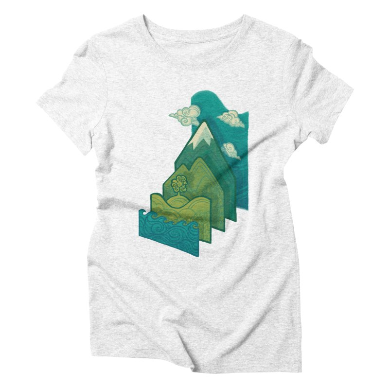 How to Build a Landscape Women's Triblend T-shirt by Waynem
