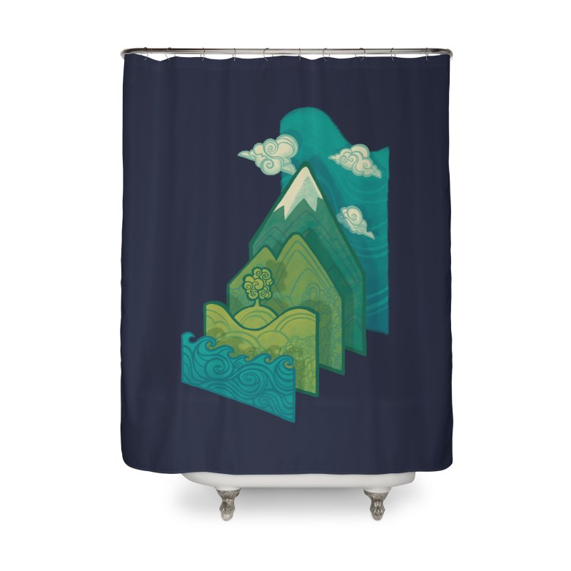 How to Build a Landscape Home Shower Curtain by Waynem
