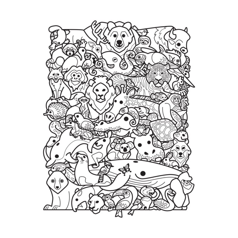 Animal Spectrum : Mono Women's Zip-Up Hoody by Waynem